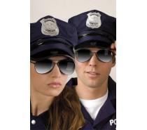 Brillen: Partybril Police spiegel