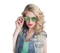Brillen: Partybril Mirror groen spiegel