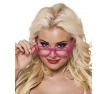 Brillen: Partybril neonroze