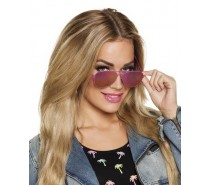 Brillen: Partybril Mirror roze