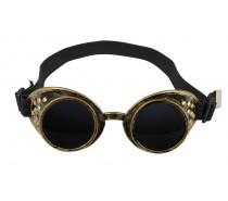 Brillen: Steampunk bril goud