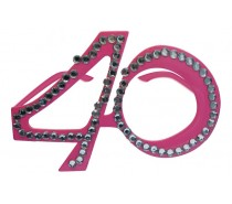 Brillen: Bril 40 Jaar Rose Diamantframe