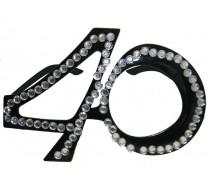 Brillen: Bril 40 Jaar Zwart Diamantframe