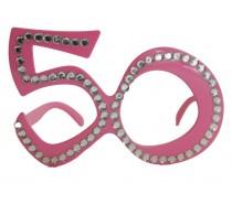 Brillen: Bril 50 Jaar Roze Diamantframe