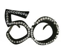 Brillen: Bril 50 Jaar Zwart Diamantframe