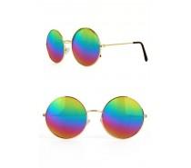 Brillen: Uilenbril olieglas geel