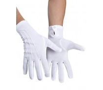 Handschoenen: pols Basic met drukknop wit