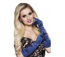 Handschoenen elleboog Hollywood blauw