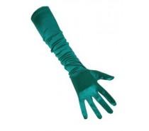 Handschoenen: Satijn Groen 48 cm een maat