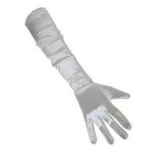 Handschoenen: Satijn Wit 48 cm een maat