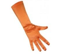Handschoenen: Satijn Stretch Luxe 40 cm Oranje
