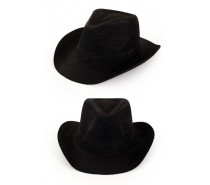 Hoeden: Cowboyhoed Zwart glitter
