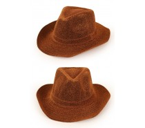 Hoeden: Cowboyhoed goud glitter