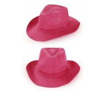 Hoeden: Cowboyhoed pink glitter