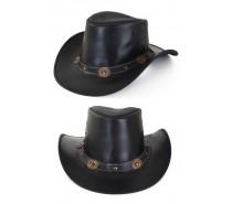Hoeden: Cowboyhoed leder zwart