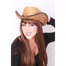 Hoeden: Cowboy Hoed volwassen van Stro