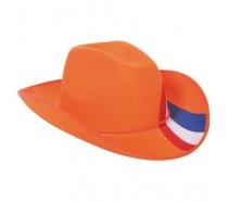 Hoeden: Cowboyhoed Oranje RWB vlag