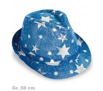 Hoed Blauw met sterren