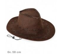 Hoeden: Cowboyhoed Zwart of Bruin Suède-look