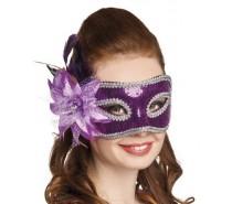 Oogmaskers: Venice fiore paars