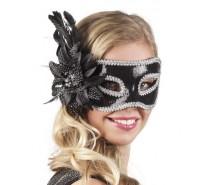 Oogmaskers: Venice fiore zwart