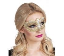 Oogmaskers: Venice felina goud
