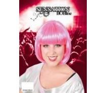 Pruik: Sensation Bobline Pink