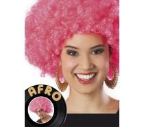 Pruik: Afropruik roze