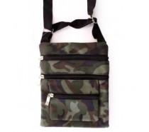 Tassen: Schoudertas / bag camouflage print 3 ritsen