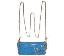 Tassen: Knip skai blauw 20 x 10 cm