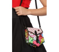 Pop-art tas met gesp