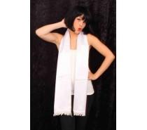 Sjaals: Satijn wit 180cm