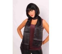 Sjaals: Satijn zwart 180cm