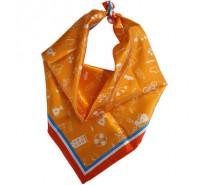 Sjaal Oranje Dames - 70x70cm.