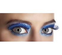 Wimpers Zelfklevend: Metallic blauw