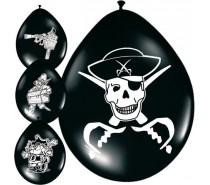 Ballonnen: 12In/30cm Piraat 8 st.