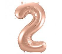 Cijfers shapes nr 2  34 inch (85 cm)  5 kleuren