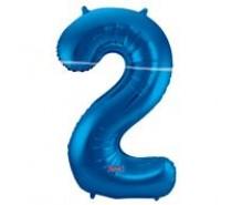 Cijfers shapes nr 2  34 inch (85 cm)  4 kleuren