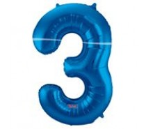 Cijfers shapes nr 3  34 inch (85 cm) 4 kleuren