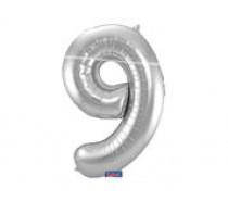 Cijfers shapes nr 9  34 inch (85 cm)  5 kleuren