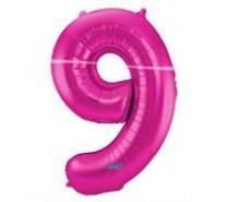 Cijfers shapes nr 9  34 inch (85 cm)  4 kleuren