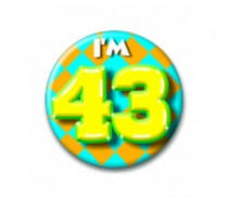 Button 43 jaar