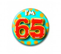 Button 65 jaar