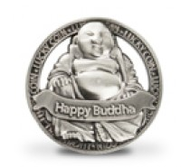 Geluksmunt: Happy Buddha (open munt)