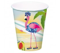 DrinkBekers Flamingo 350ml  8 st