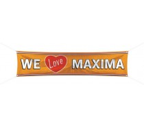 Oranje: Bannier We love Maxima 180x40