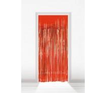 Deurgordijn Folie Rood 2x1m