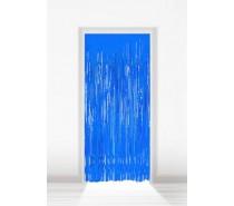 Deurgordijn Folie Blauw 2x1m