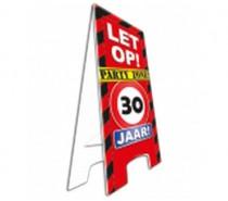 Warning Sign 30 Jaar
