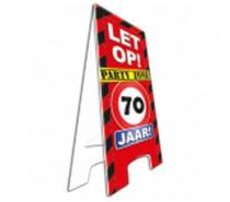 Warning Sign 70 Jaar
